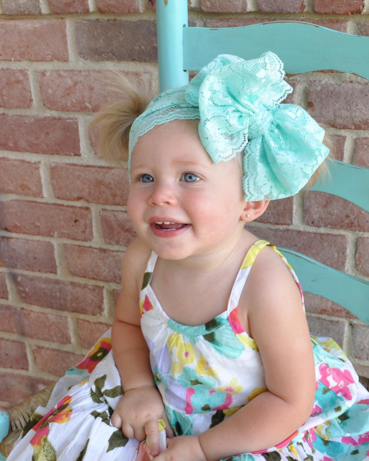 Hair Bowknot Lace Headbands Childrens Accessories Head