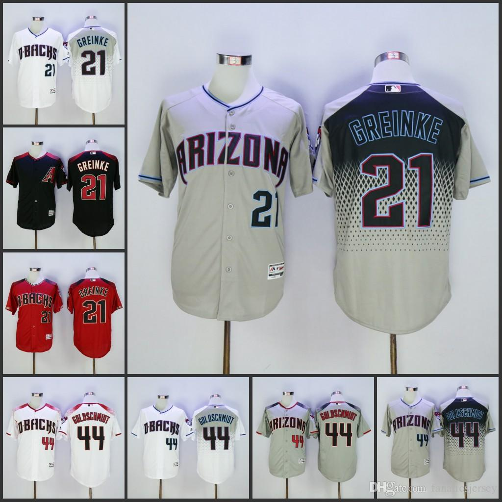 8b82826ae ... canada gray capri new cool base stitched mlb jersey mens arizona  diamondbacks jersey 21 zack greinke