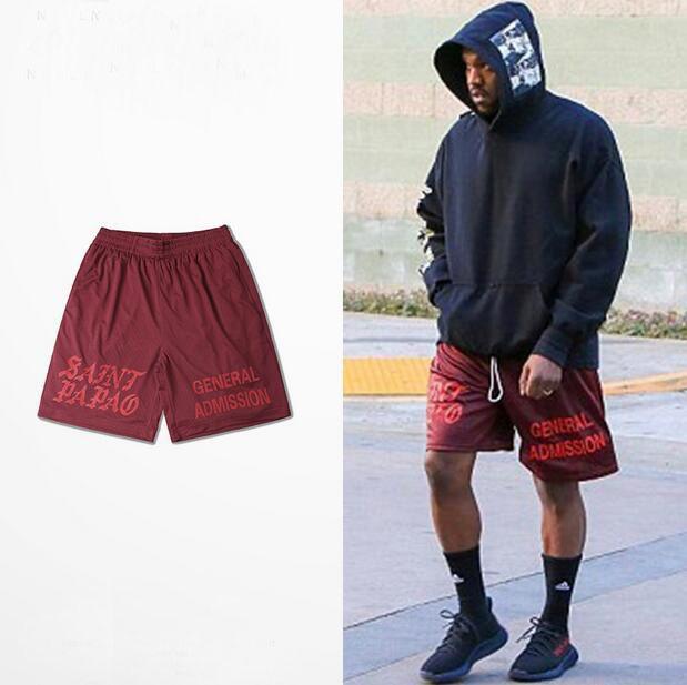 High Quality Kanye West Saint Pablo General Admission Shorts Dark ...