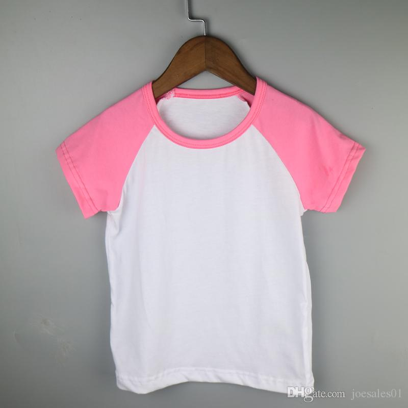 2018 Hot Pink Todddler Custom Tees Infant Raglan Short
