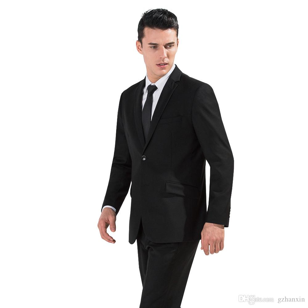 2017 2017 Black Color Men Business Suits Gentleman Costume