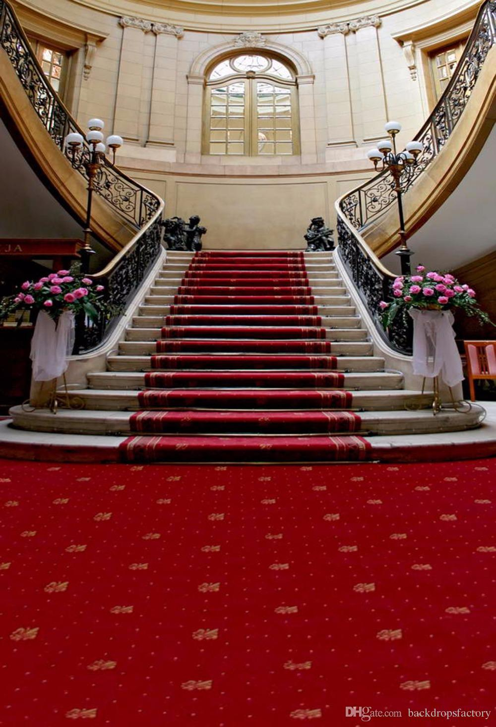 2018 Red Carpet Staircase Wedding Photography Backdrop