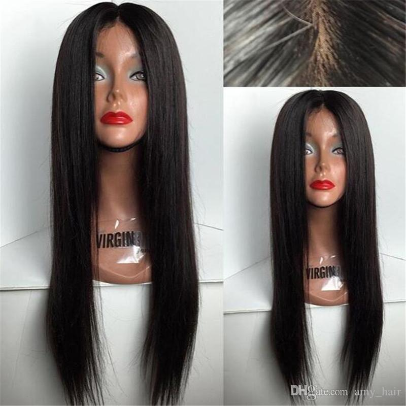 Good Quality Human Hair Full Lace Wig 118