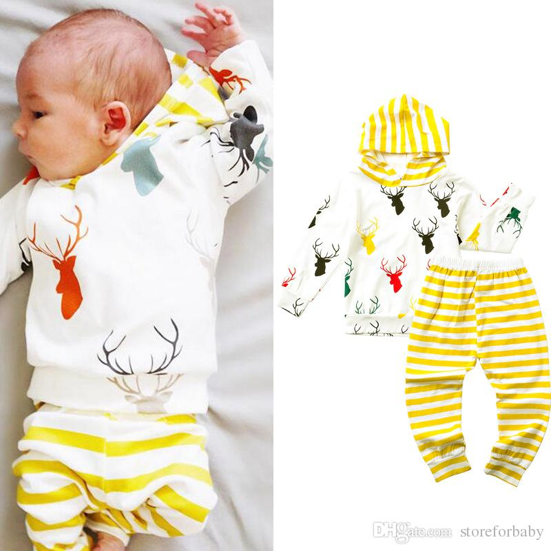 Spring Infant Girls Rompers Pants Clothing Sets Boys Clothes Suit