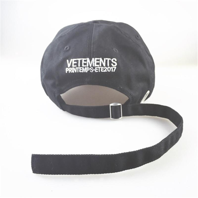 VETEMENTS 2017 Casquettes de base-ball HOMMES Hip Hop Streetwear Skateboard Casq