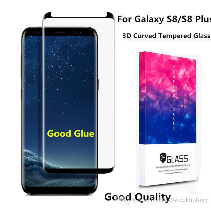 Pour Galaxy S8 Plus S7 Edge Ultra Thin 0.2MM 3D Full Cover Curved Side Protecteu