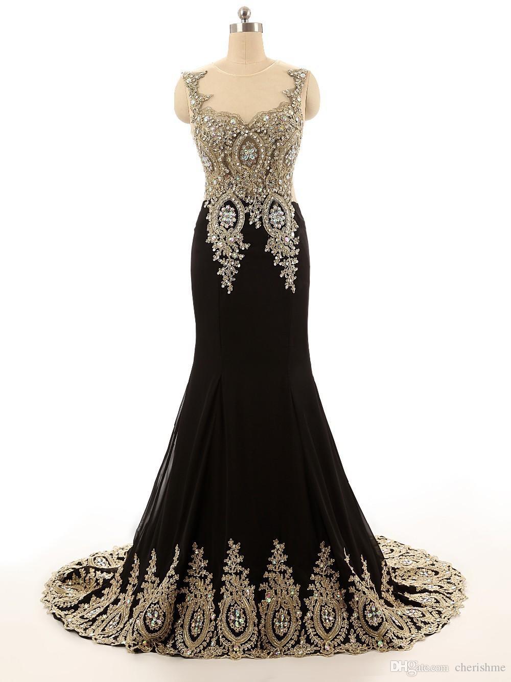 Hot Sale 2017 Jewel Collar Black Gold Lace Applique Beaded Custom ...