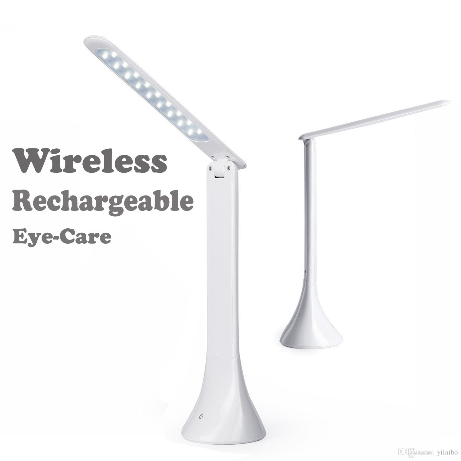 Table lamp touch - Wireless Eye Care Led Table Lamp Desk Reading Lamp For Kid Home Office Touch Rotation Flip