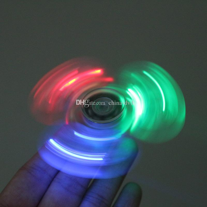 Light up hand spinners led bright fidget spinner triangle for Light up fishing spinners