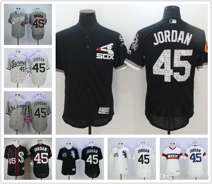 fcuqfs 2017 2016 2017 New Chicago White Sox 45 Michael Jordan Jersey