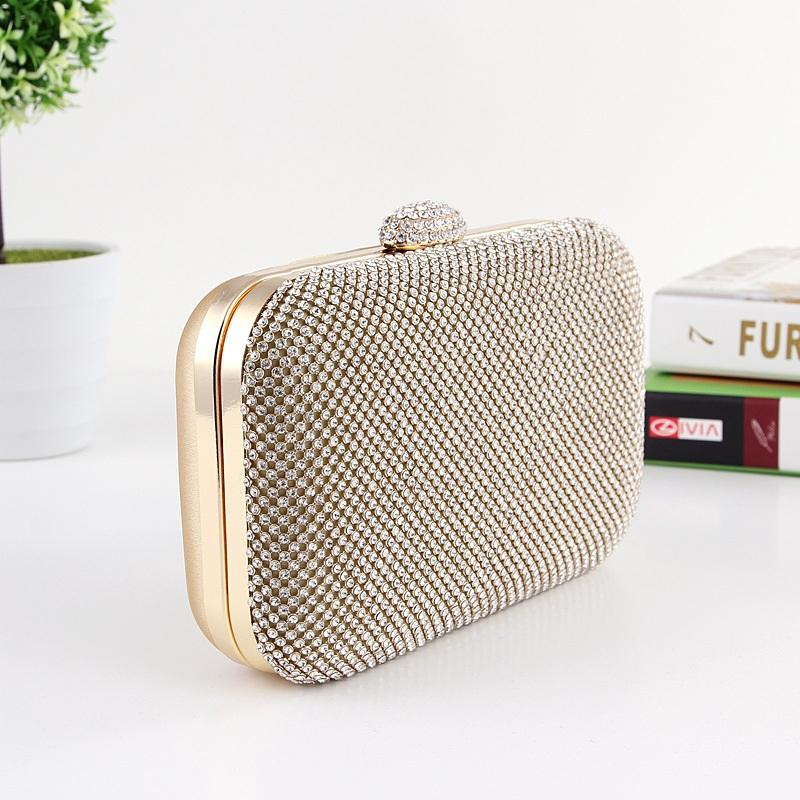 One Side Diamond Evening Clutch Bag Party Purse Frame Women ...