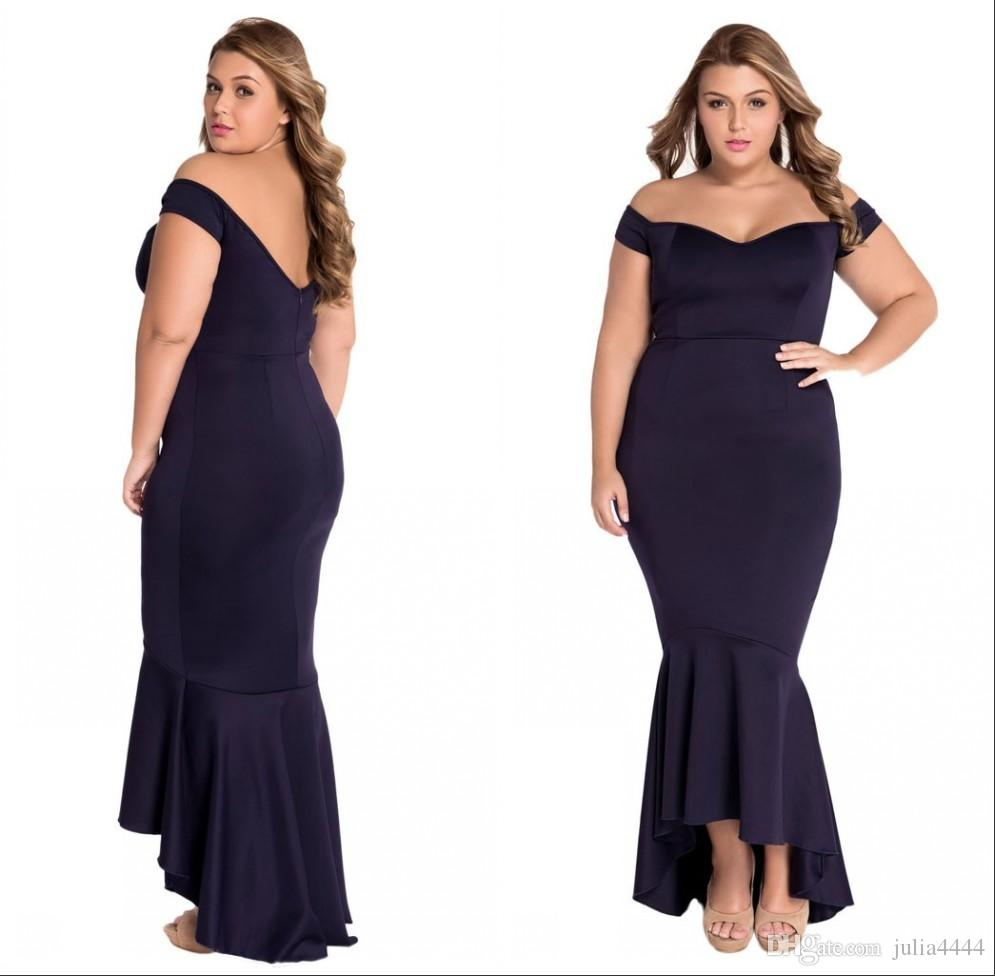 Plus size bridesmaid dresses with mermaid 2017 arabic for Plus size wedding guest dresses cheap