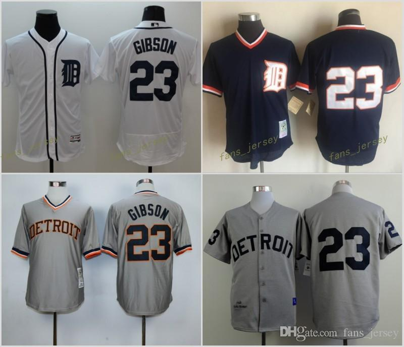 2017 mlb flexbase detroit tigers 23 kirk gibson baseball jersey blue white grey orange cool base