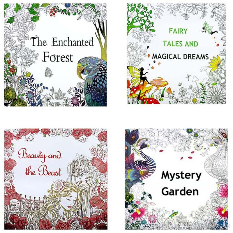 Kids Adult Coloring Books Enchanted Forest Magical Dreams Mystery Garden Beauty And Beast Relieve Stress Decompression Painting Colouring