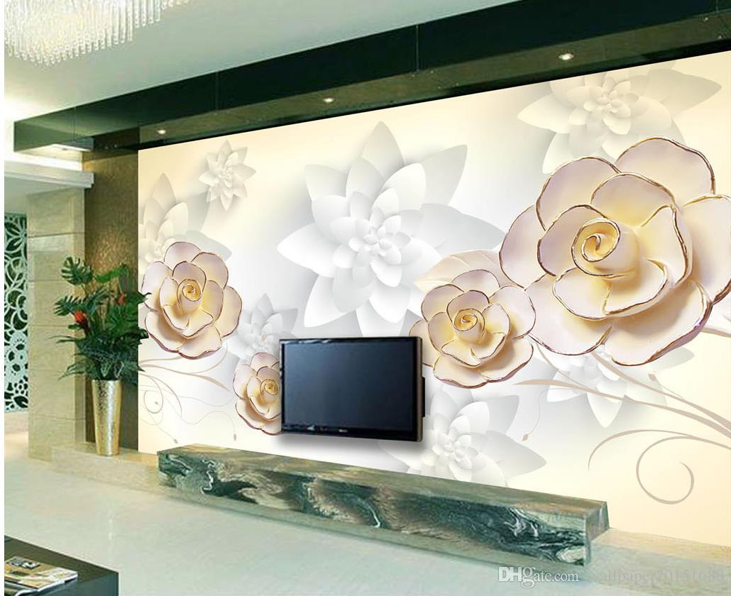 Embossed flowers 3d tv background wall murals mural 3d wallpaper embossed flowers 3d tv background wall murals mural 3d wallpaper 3d wall papers for tv backdrop online with 3564square meter on wallpaper20151688s store amipublicfo Gallery