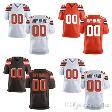 VENTE CHAUDE! Nouveau Cleveland Brown Custom Elite Football Jerseys / Haute Qual