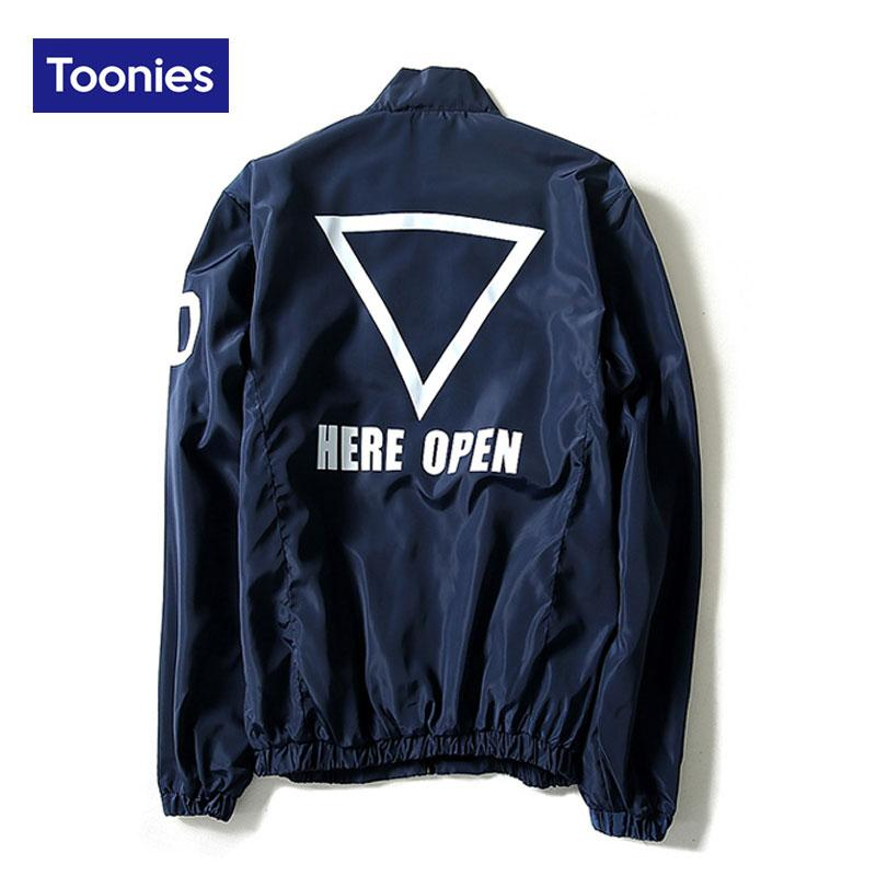 Wholesale- Autumn 2017 Man Bomber Jacket Men Letter Printed Hip ...