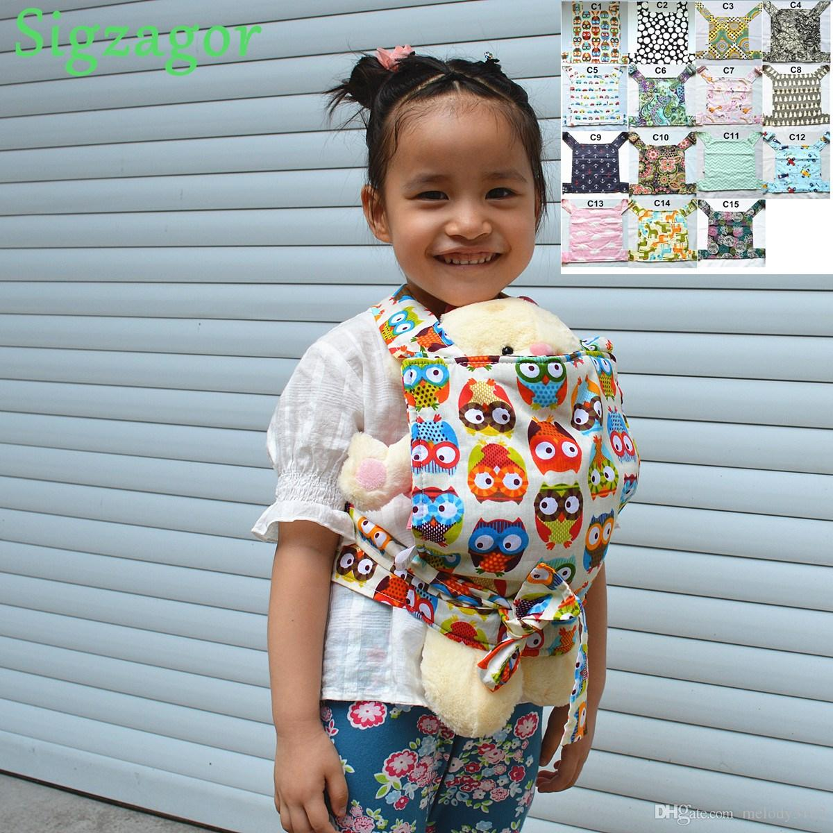sigzagorbaby Doll Carrier Mei Tai Sling Toy For Kids Children Toddler Gift Fr