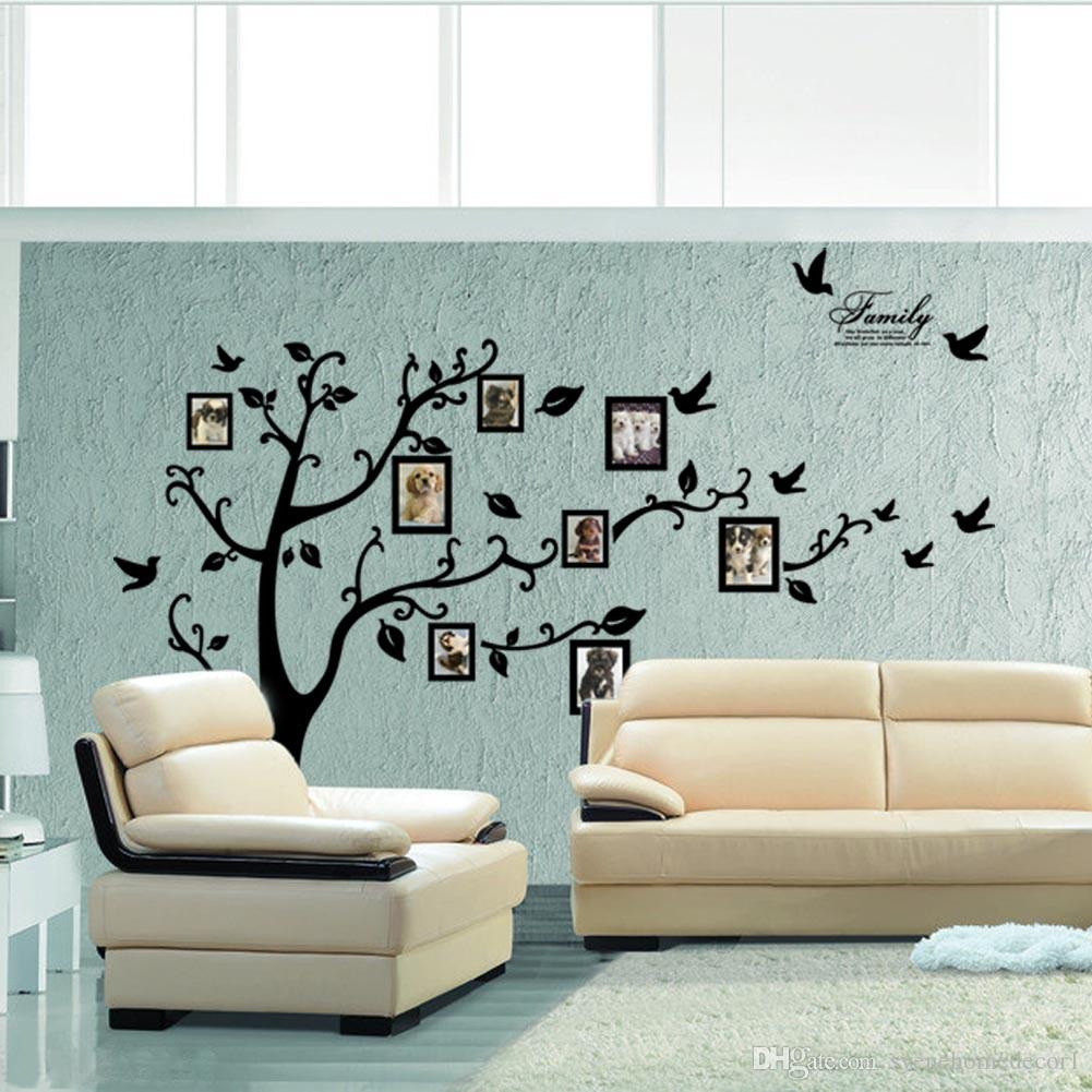 Xl 180250 cm large tree wall sticker photo frame family diy vinyl xl 180250 cm large tree wall sticker photo frame family diy vinyl 3d wall stickers home decor living room wall decals tree big black poster large tree wall amipublicfo Choice Image