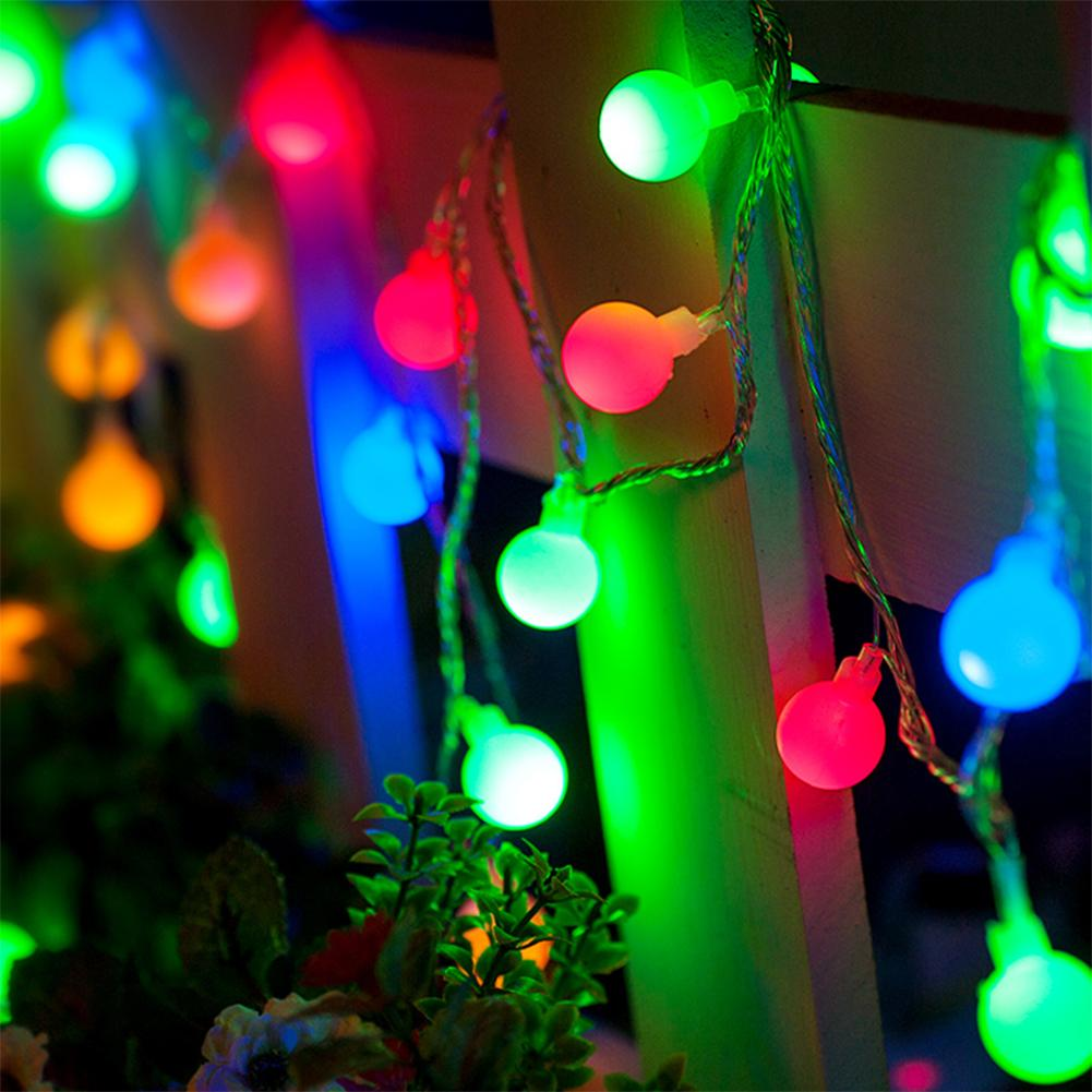 Wholesale 10m 60leds Novelty Mini Ball Rgb Led String Lamps 8 Models Colourful Twinkle Christmas ...