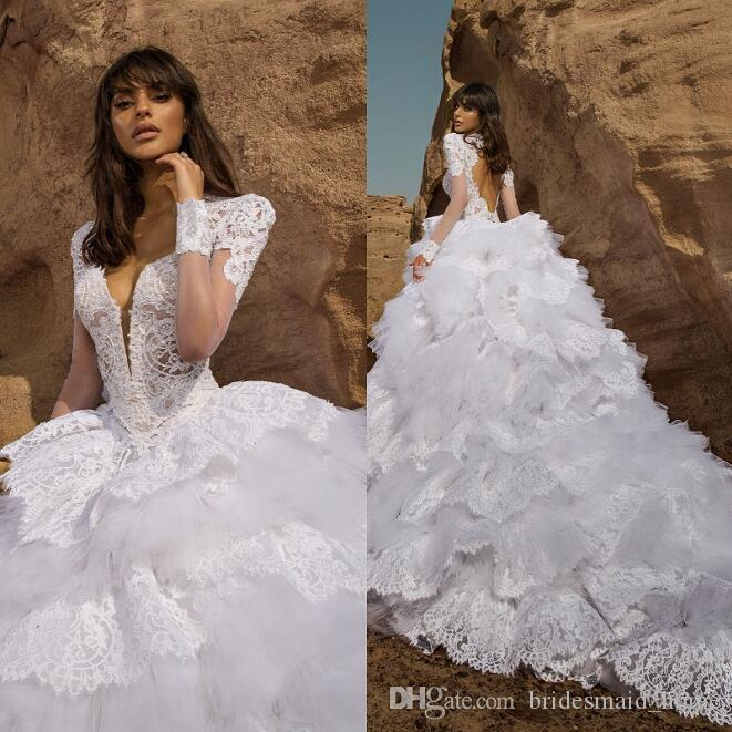 2016 lace ball gown wedding dresses white pnina tornai for Dhgate wedding dresses 2016