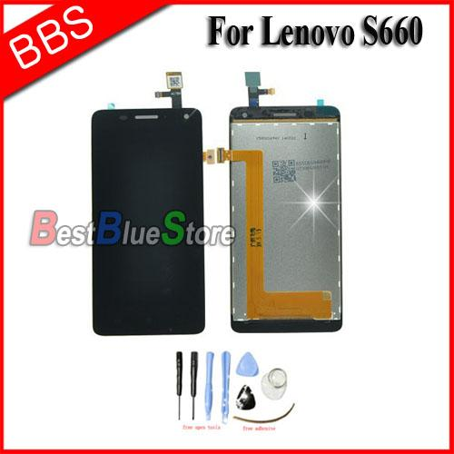 -For Lenovo S660 LCD Screen Display Touch Digitizer Assembly +tools
