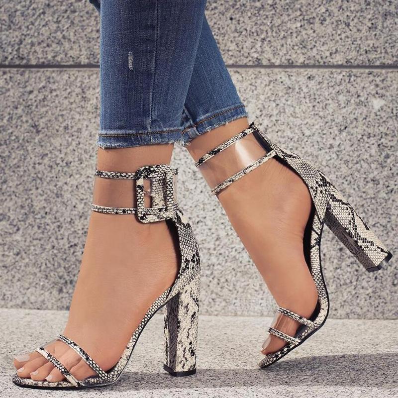 2017 Fashion Women Sandals Summer Thick Heel High Heels ...