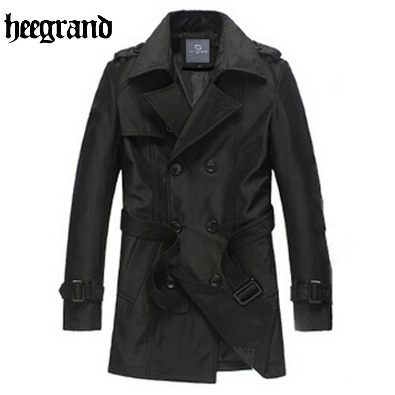Wholesale- HEE GRAND 2017 Spring Solid Slim Brief Man Trench Coats ...