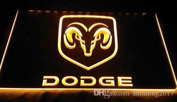 LS921-Y-Dodge-Neon-Light-Sign Decor Dropshipping Wholesale to Choose Light Signs LED 3D Night ...