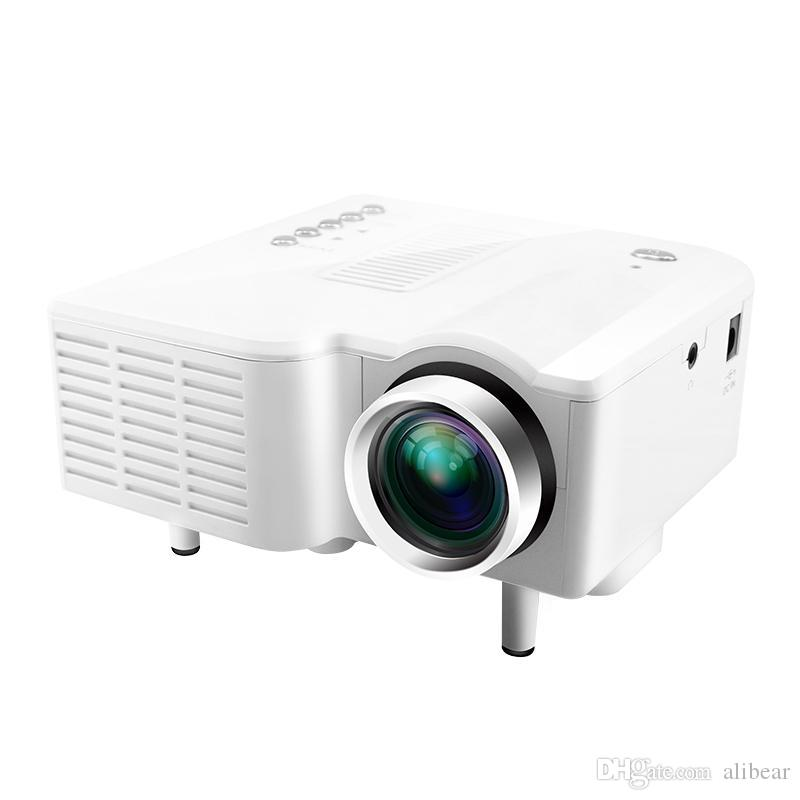 Mini uc28 projector portable led theater video projector for Pocket digital projector