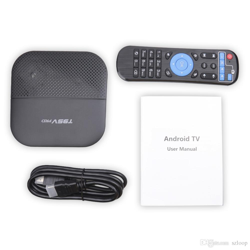 T95V PRO TV BOX Android IPTV Box 6.0 2.4G 5G Octa-core Cortex-A53 WiFi IPTV Box