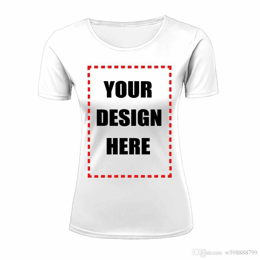 Design your t shirt cheap - Wholesale Womens T Shirt Short Sleeve Cheap Custom 3d Text Font Image Coloring Customize All Over Front Back Print Plus Size Xs Xxl Top Tee
