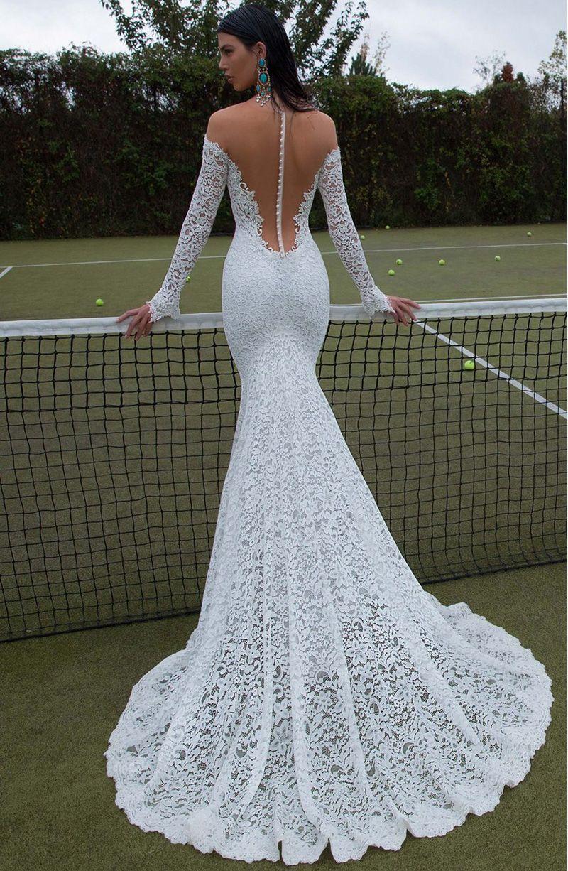 Full lace long sleeve wedding dresses 2017 berta bridal for Www dhgate com wedding dresses