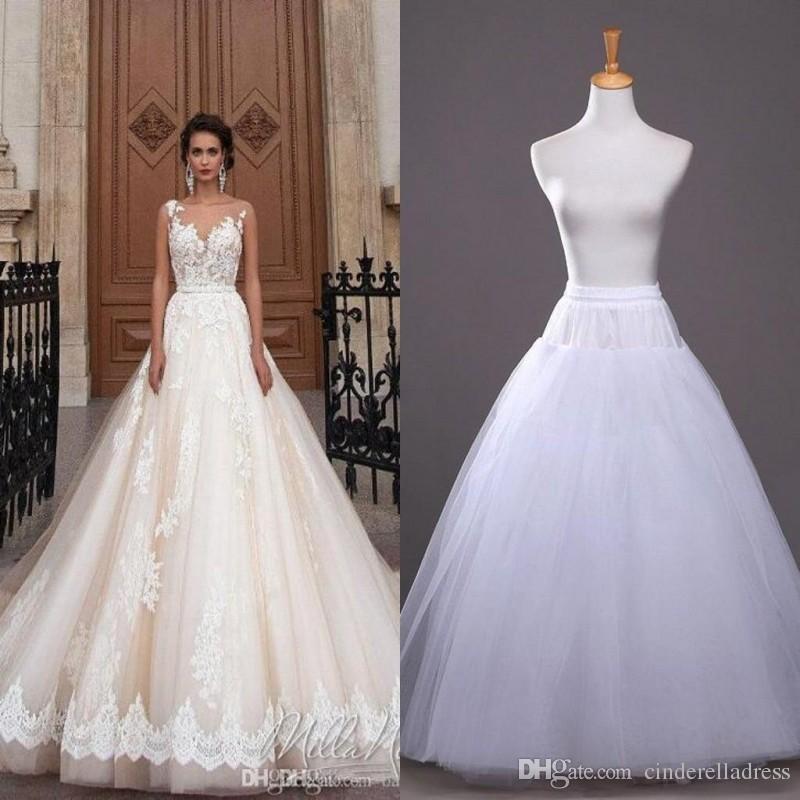 2017 In Stock A Line Petticoats Cheap Bridal Accessories Bridal Slip For Wedding Dresses Bridal