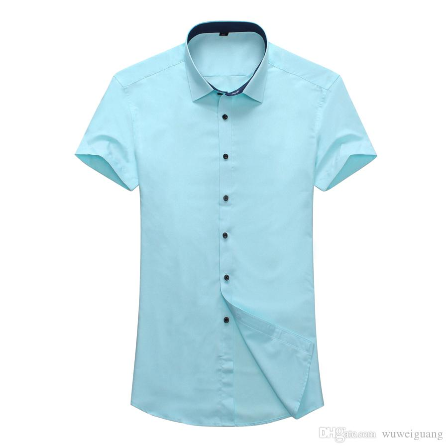 Summer Mens Short Sleeve Button Down Shirts 4x En's Dress Shirts ...
