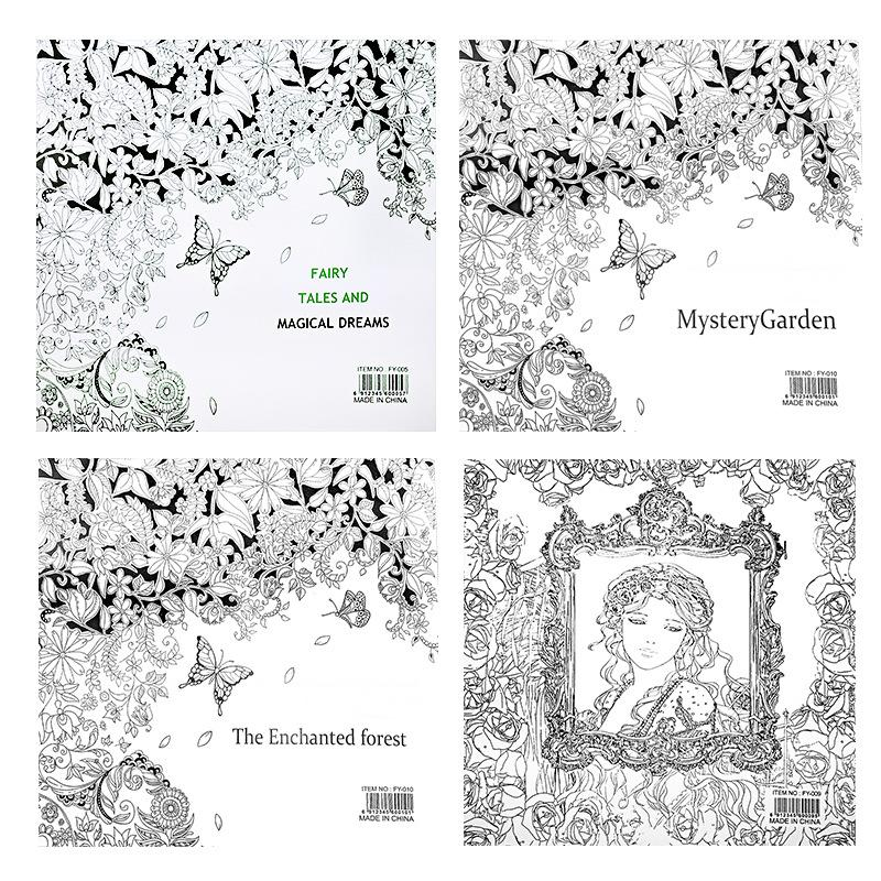 2525cm Enchanted Forest Beauty And The Beast Secret Garden Fairy Tale Dream Coloring Book Children Adults Colouring New Online With