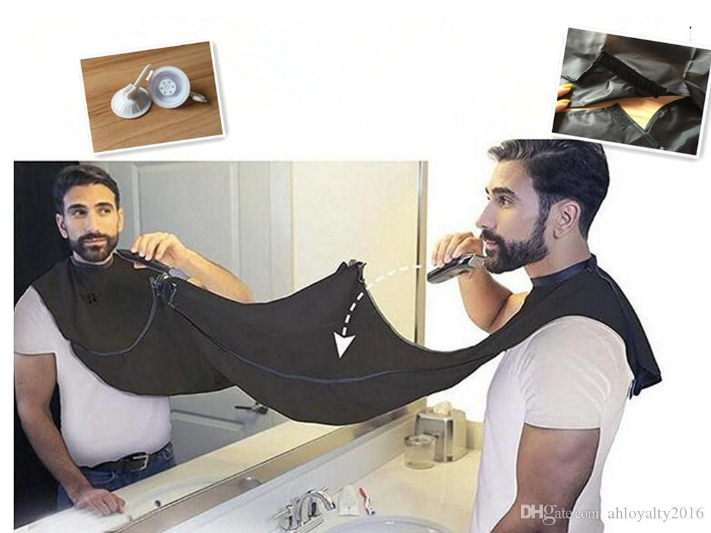 man bathroom beard care trimmer hair shave apron gown robe tool bathroom apro. Black Bedroom Furniture Sets. Home Design Ideas