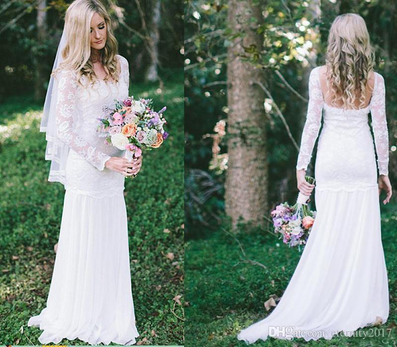 Vintage summer beach boho wedding dresses bohemian beach for Vintage summer wedding dresses