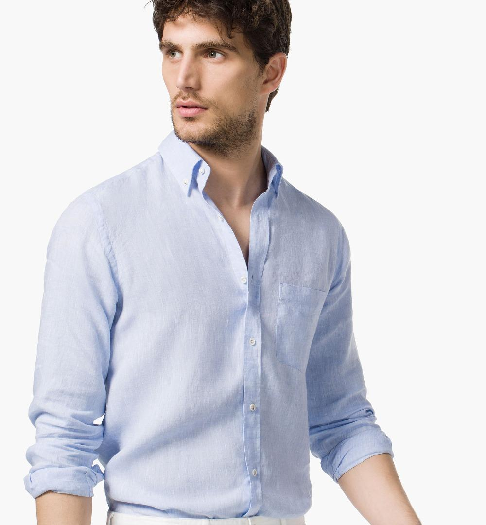Online cheap wholesale new men summer stylish slim fit for Cheap slim fit shirts