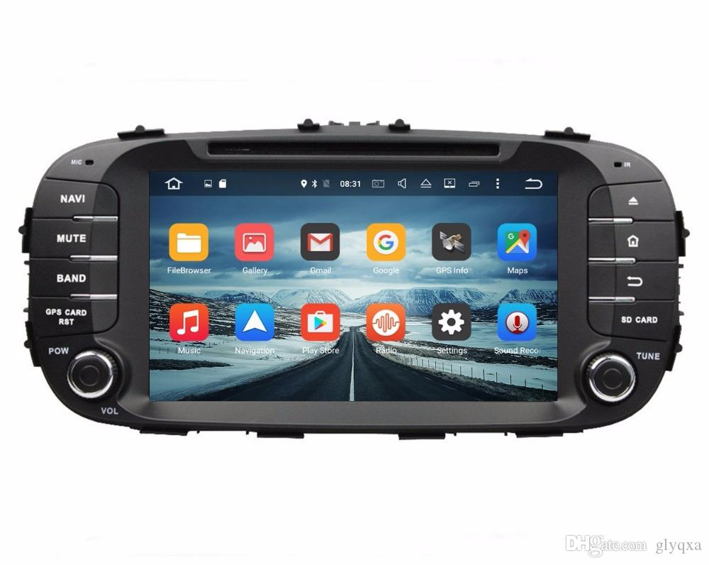 Octa core 2 din 8 android 6 0 car dvd car audio dvd gps for kia soul 2014 2016 with 2gb ram radio bluetooth wifi 32gb rom mirror link car radio auto dvd