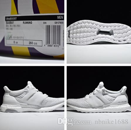 2017 Adidas Ultra Boost 3.0 BA 8841 Primeknit White Mens Running