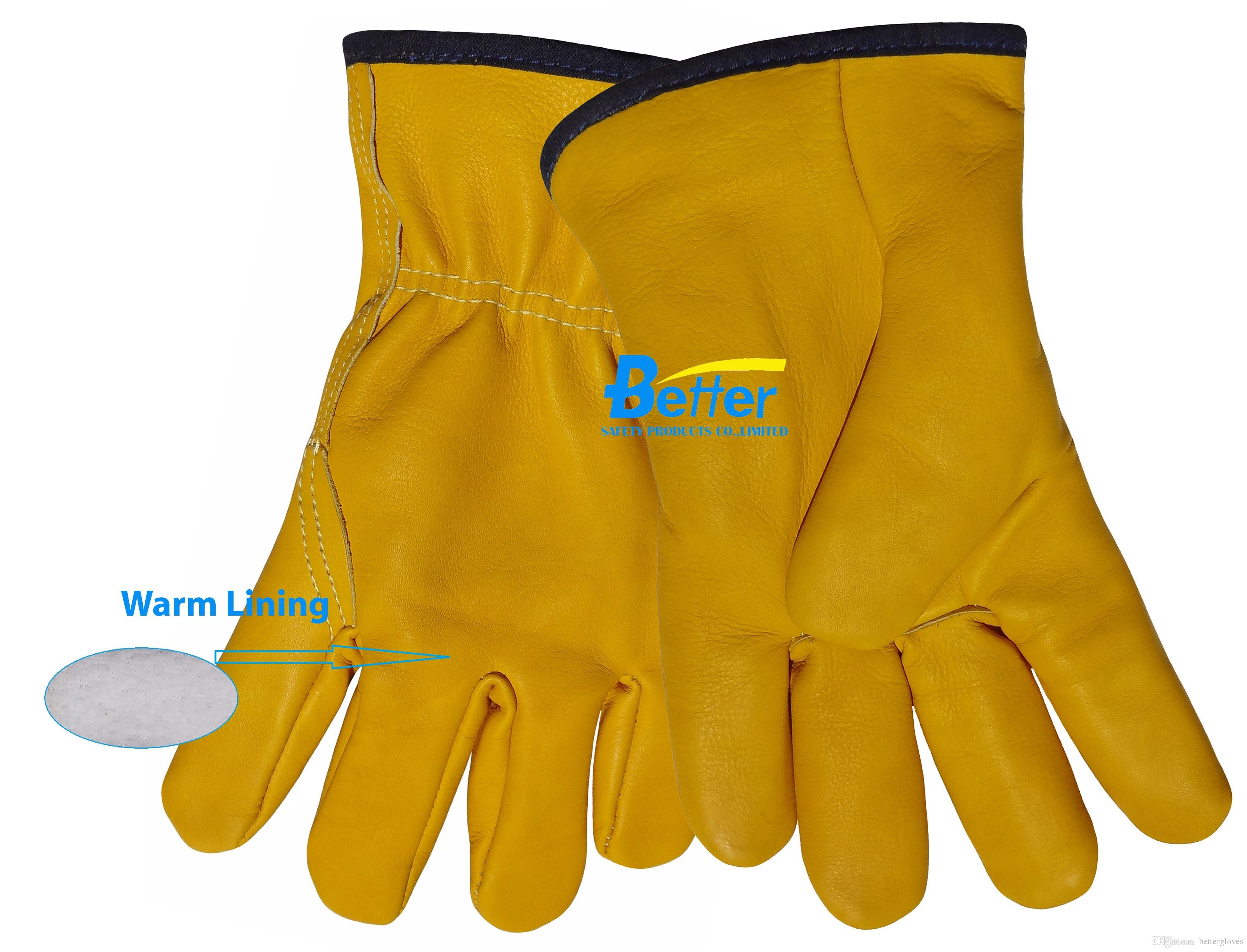 Leather work gloves for welding - Leather Driver Gloves Leather Welding Glove Warm Winter Cow Grain Leather Work Glove Leather Work Glove Work Glove Leather Driving Glove Online With