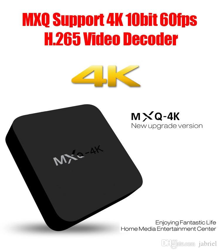 10pcs / lot Anroid TV Box MXQ 4K Android 5.1 Smart TV Box Quad Core Set Top Boxe