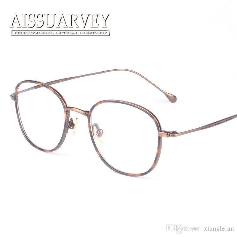 titanium eyewear colr  Titanium eyeglasses full-rim optical glasses frame round metal eyewear  korean fashion brand designer ultra