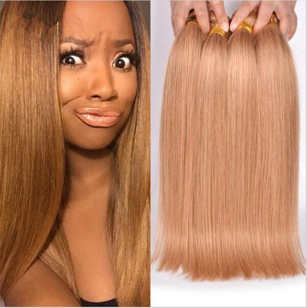 2018 Honey Blonde Hair Extensions 27 Blonde Straight Hair