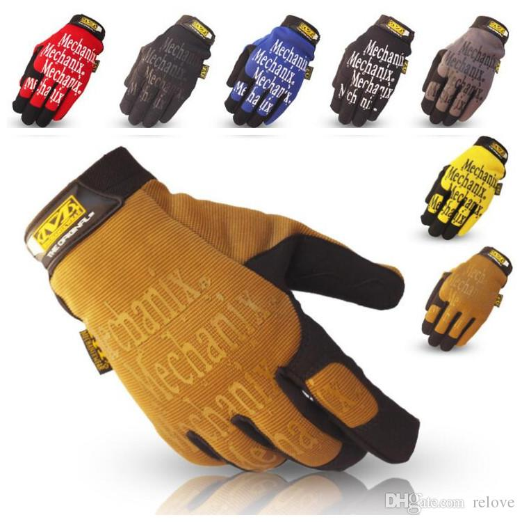 7 couleurs nouveau MECHANIX WEAR Gants de suture Tactical Outdoor Men's Racing G