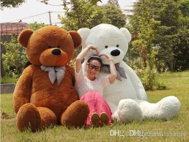 2017 wholesale cheap 200cm 78 giant huge big stuffed animal teddy bear toys white brown light. Black Bedroom Furniture Sets. Home Design Ideas