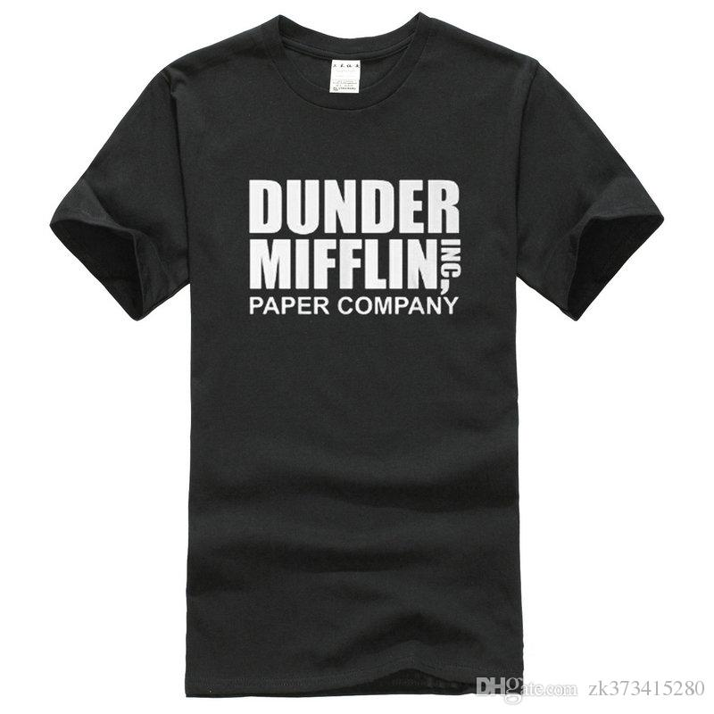 Company T Shirt Design Short The Office Show de télévision Dunder Mifflin Paper