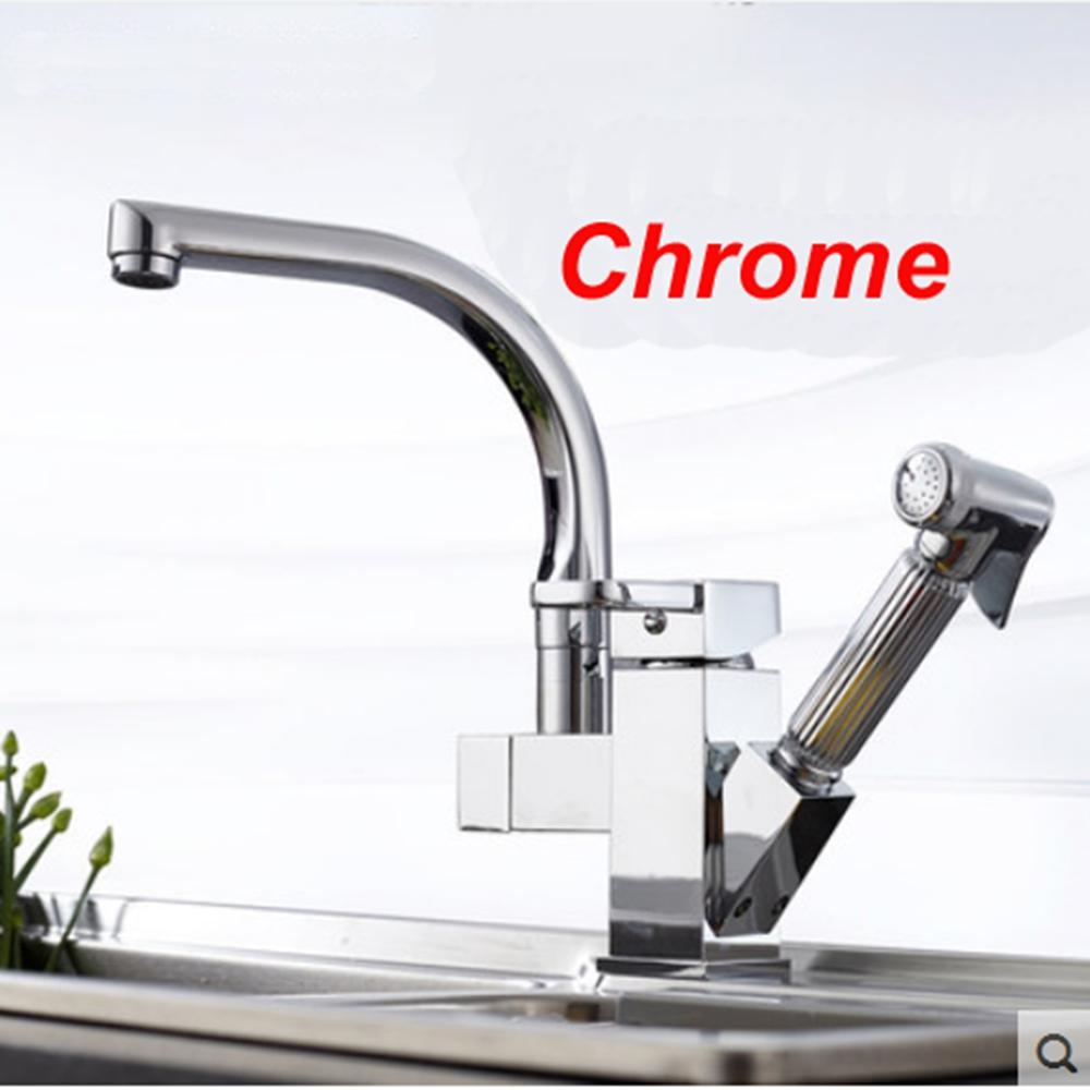 Wholesale  Uythner Chrome Brass Kitchen Faucet Pull Out Sprayer Vessel Bar  Sink Faucet Single Handle Hole Mixer Tap Tap Out Mixer Tap Kitchen Faucet  Pull ...