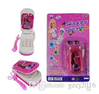 20151034happy barbie music light mobile cell phone baby - Telephone barbie ...